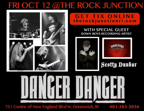 Danger Danger at The Rock Junction, Greenwich, RI on October 12, 2012