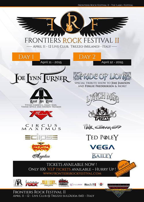 """Frontiers Rock Festival 2"" Poster"