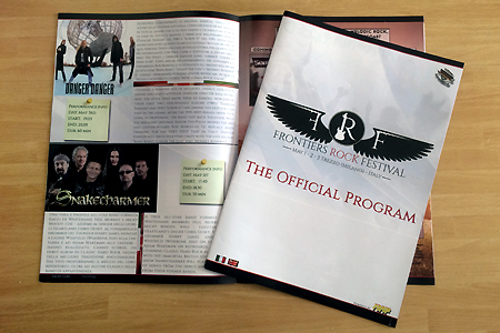 Danger Danger at Frontiers Rock Festival 2014 in Milan, Italy : The Officil Program