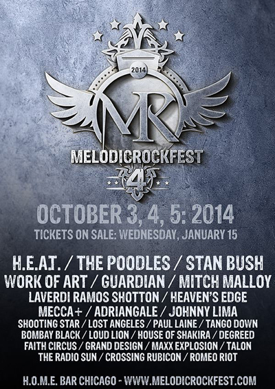 """MelodicRockFest 4"" October 3-5, 2014"