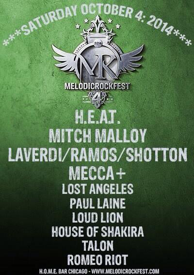 """MelodicRockFest 4"" October 4, 2014"
