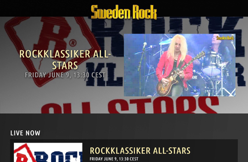 Sweden Rock Festival 2017 : Live Stream