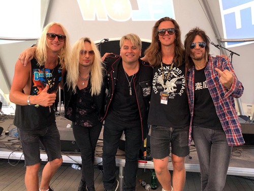 Paul, Rob & Steve : Sweden Rock Festival 2018 with Jen & Jen from Crazy Lixx - June 9, 2018