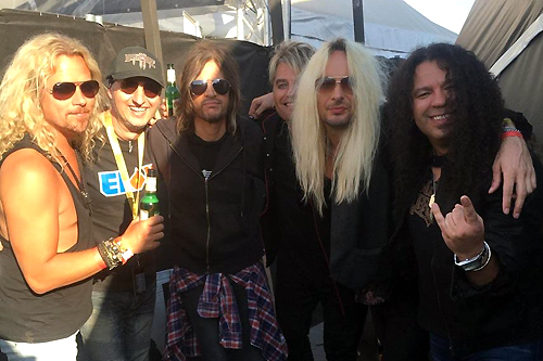Paul, Rob & Steve : Sweden Rock Festival 2018 with Kicken from The Poodles - June 9, 2018