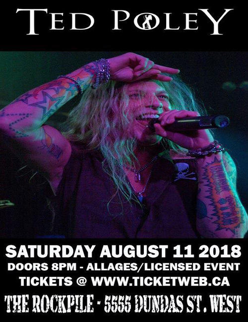 Ted Poley : Totonto, ON - August 11, 2018