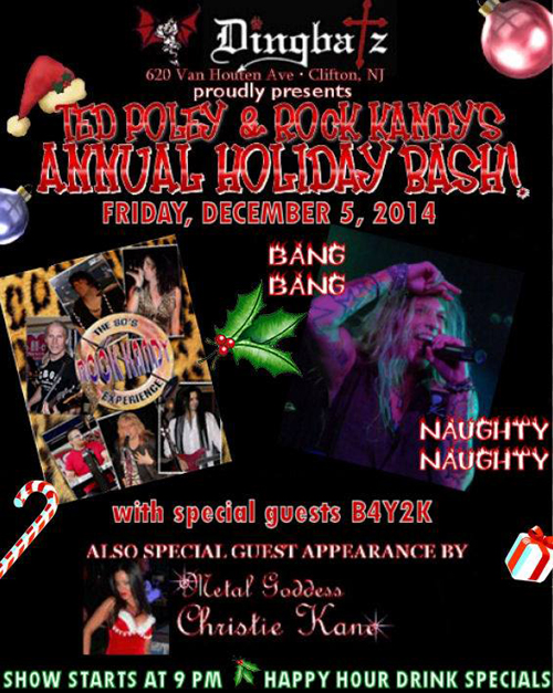 Ted Poley & Rock Kandys Annual Holiday Bash - December 5, 2014
