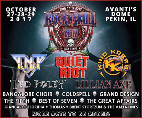 Ted Poley - Rock N' Skull 2017 - August 27, 2016 Announce