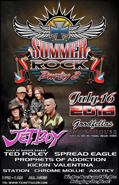 Ted Poley at Summer Rock Party 2, Jul. 16, 2016 - Poster