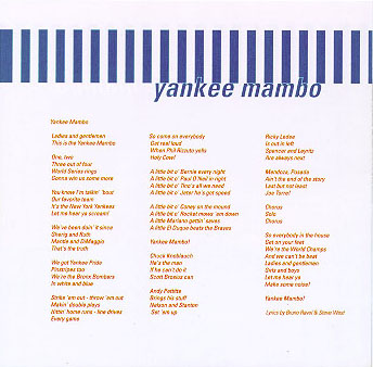 Yankee Mambo - Back of the Front